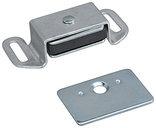 Aluminum Magnetic Catch - Stanley Hardware S711-075 CD46 Reversible Magnetic Cabinet Catch in Clear Coated Aluminum