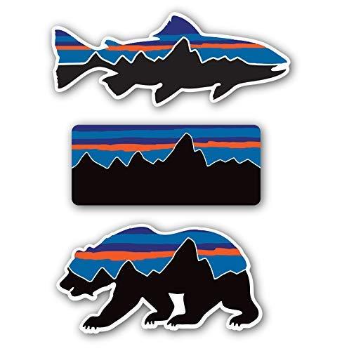 Patagonia Style Decal Stickers Sticker Mountain Camping Travel Adventure Fishing [Premium Matte Waterproof Vinyl]