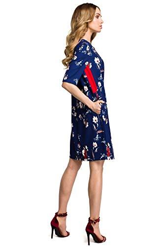 an Den Einsätzen Dunkelblau Seiten mit Kleid Clea Glatten PXxI1q4
