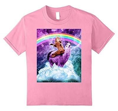 Rainbow Llama Shirt - Cat Llama