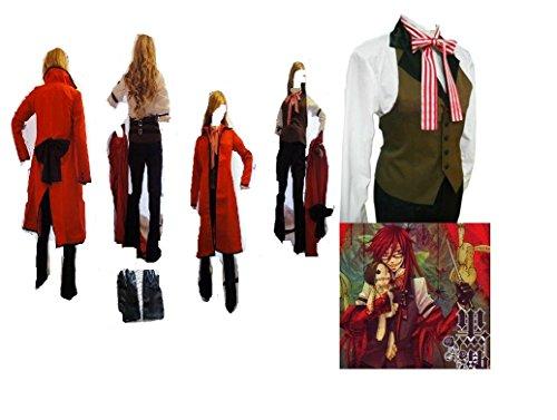Black Butler cosplay costume Grell Sutcliff Kuroshitsuj