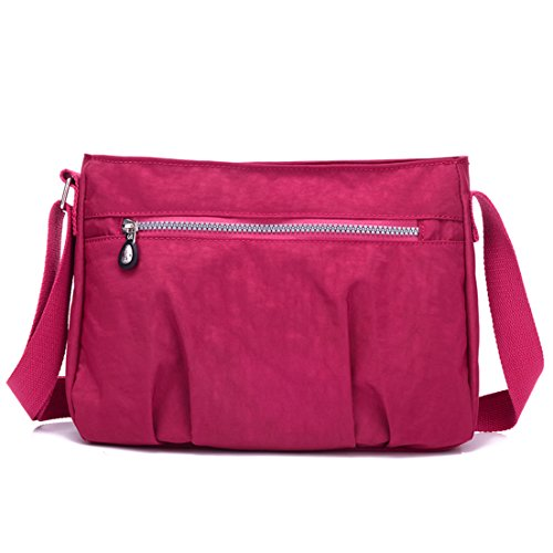 Purses Nylon Girls Red Shoulder Cross amp; TianHengYi Lightweight Pockets body Bag Small Handbags T1 Multi Casual Wine OFSSqp