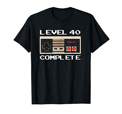 Level 40 Complete T-Shirt Men 40th Birthday Gift TShirt]()