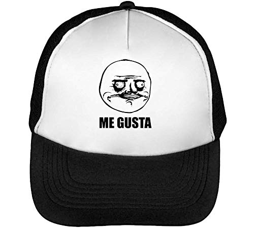 Negro Gusta Hombre Snapback Gorras Blanco Beisbol Meme AXqSBF1