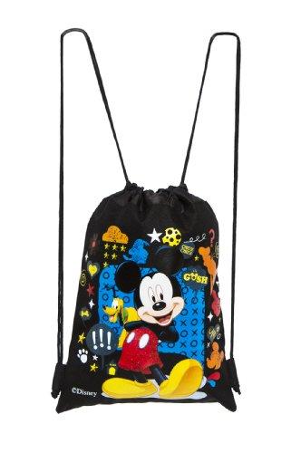 Disney Mickey Black Drawstring Bag