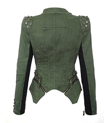 Printemps Manches Femme Minetom Vintage Automne Irr Longues Veste Jeans zTTA5qw