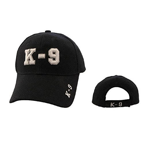 K-9 - Police Canine Special Unit Uniforms Style Baseball Cap Hat Black with White 3D - K Black Agent In Men
