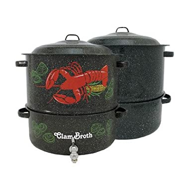 Granite Ware 3-Piece 19 qt. Decorated Lobster Pot
