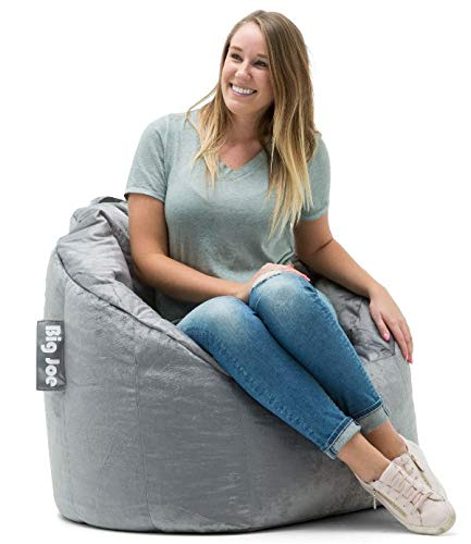 Big Joe Milano Bean Bag Chair, Gray Plush - 32