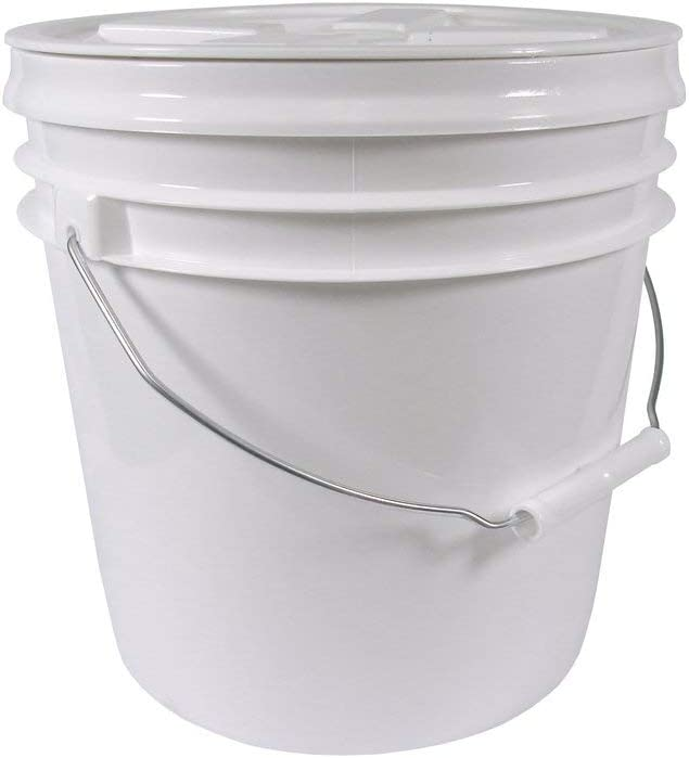 2 Gallon Food Grade Bucket with Gamma Seal Lid Bundle - Lid Has Been Installed to the Bucket
