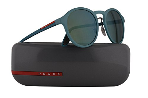 Prada PS01SS Sunglasses Opal Green Rubber w/Light Green Mirror 53mm Lens VHF3C0 SPS01S PS 01SS SPS 01S (Men Sunglasses Sale Prada For)