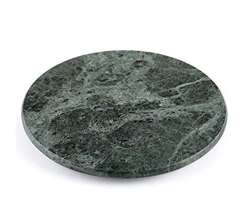 Premium Creative Home Natural Green Marble Lazy Susan 12