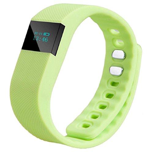Lookatool Smart Wrist Band Sleep Sports Fitness Activity Tracker Pedometer Bracelet Watch (Green)