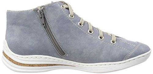 jeans Basses Sneakers Femme Bleu M3539 blue Rieker BqvwCAn