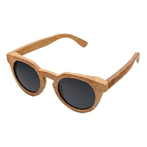 JapanX Bamboo Sunglasses & Wood Wooden Sunglasses for Men Women, Polarized Lenses Gift Box – Wooden Vintage Wayfarer Sunglasses - Bamboo Wood Wooden Frame – New Style Sunglasses (A8 - Glasses Wooden Japanese Frames