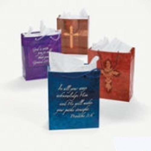 Fun Express Expressions of the Faith Gift Bags with Handles - 12 Pieces by Fun Express