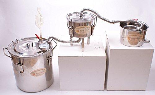 New 3 Pots DIY 3 Gal 12 Litres Alcohol Moonshine (12l Pot)