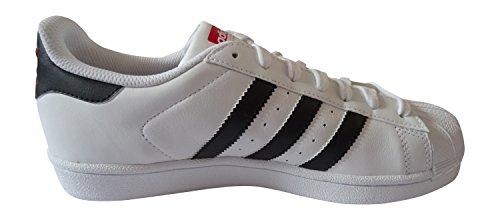 adidas originals superstar mens trainers sneakers shoes (uk 8 us 8.5 eu 42, FTWWHT/CBLACK/SCARLE AQ2349)