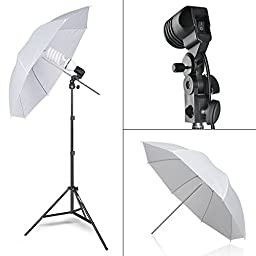 Emart 2000W Photography Light Studio Kit with 8.5 x 10 Feet Background Support System, 3 Muslin Backdrops, 2 Umbrella, Continuous Lighting Kit and Carry Bag - Black / White / Green