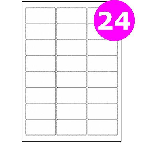 Office Depot A4 Mailing Address Labels 24 Per Sheet For Laser Printer Copier 500 Sheets