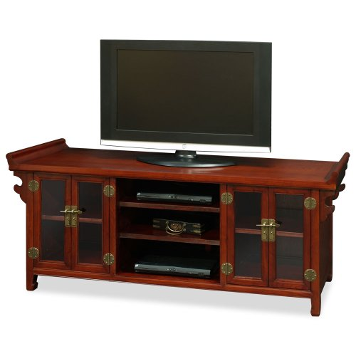 China Furniture Online Elmwood Sideboard, Altar Style Chinese Media Cabinet Mahogany (Altar Style Cabinet)