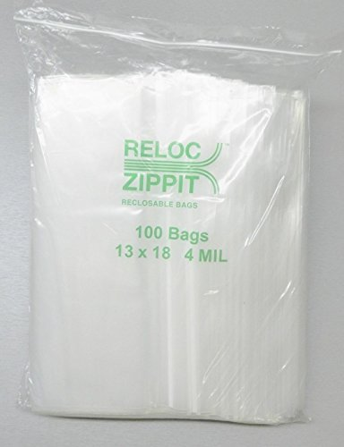 13x18 ZIPLOCK BAGS 4 MIL CLEAR POLY RECLOSABLE LARGE JUMBO SIZE13