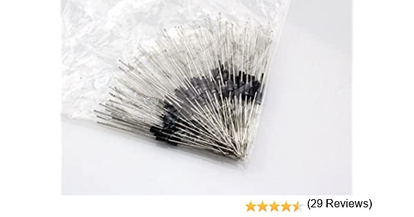100 piezas rectificador Diodo 1N4007 IN4007 DO-41 1 A 1000 V: Amazon.es: Electrónica
