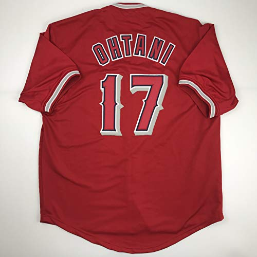 Unsigned Shohei Ohtani Los Angeles Anaheim LA Red Custom Stitched Baseball Jersey Size Men's XL New No Brands/Logos