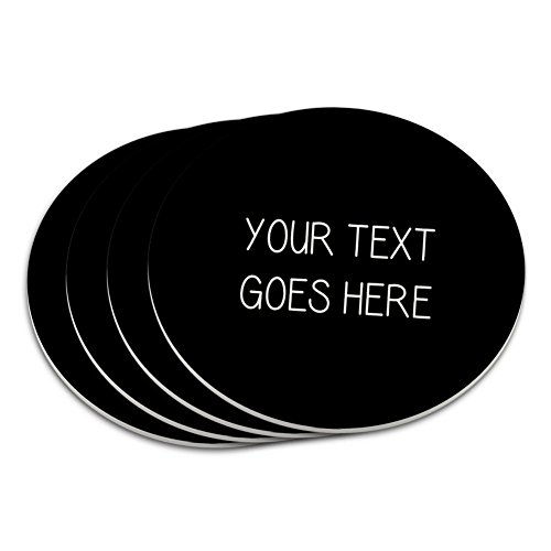 Graphics and More Personalized Custom Black Background Any Occasion Coaster -