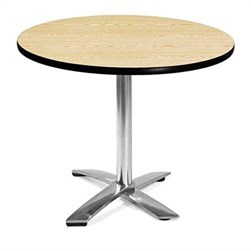 OFM KFT36RD-OAK Round Folding Multi-Purpose Table, 36