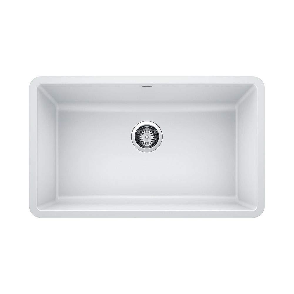 Blanco 442533 Granite Kitchen Sink Precis 18 In X 30 In White
