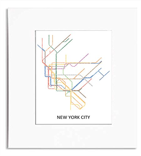 City Subway Map Art.Amazon Com New York City Subway Map Word Art Print Handmade