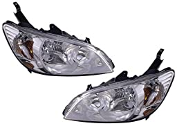 2004-2005 ( 04 05) Honda Civic Sedan Headlight Assembly - One Pair (Both Driver and Passenger Sides) - DOT Certified Headlamp