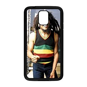 C-EUR Customized Print Bob Marley Hard Skin Case Compatible For Samsung Galaxy S5 I9600