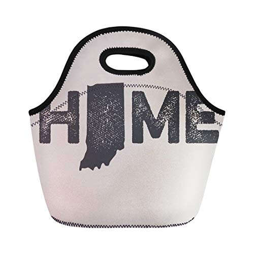 Lunch Box Indiana Hoosiers - Ablitt Lunch Bags Hoosier Indiana State Love Born neoprene lunch bag lunchbox tote bag portable picnic bag cooler bag