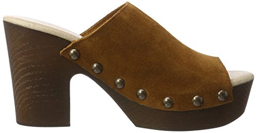 XTI Damen Camel Suede Ladies Shoes Clogs Beige (Camel)