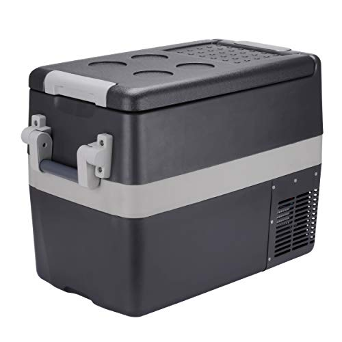 - Portable Refrigerator 42 Quart (40 Litre) Mini Car Fridge for Truck, RV, Caravan and Boat |12V/24V DC 110V AC Compact Freezer |Small Electric Cooler for Camping, Fishing, Outdoor Picnic and BBQ Party