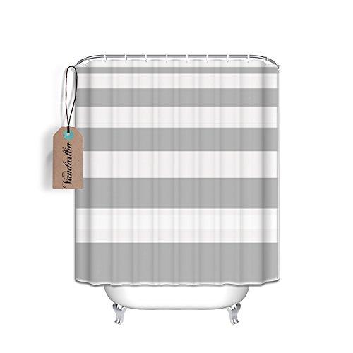 Nautical Stripe Design Fabric Shower Curtain  Extra Long 72x