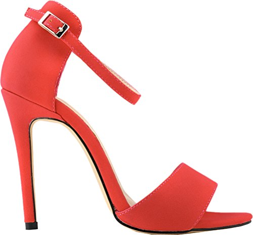 Salabobo femme femme Rouge Salabobo Rouge Peep Toe Peep Toe qxxaC4wt