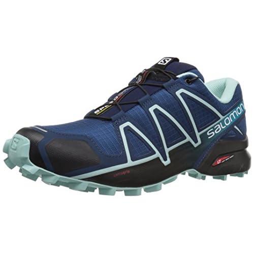 chollos oferta descuentos barato Salomon Speedcross 4 W Zapatillas de Trail Running para Mujer Azul Poseidon Eggshell Blue Black 36 2 3 EU