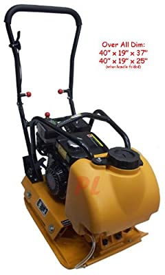 6.5 HP PLATE COMPACTOR VIBRATORY GASOLINE with Water Tank by Generic