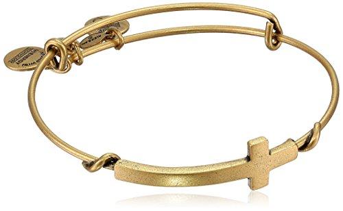 "Cross Expandable Wire Bangle Bracelet Alex and Ani ""Spiritual Armour"""