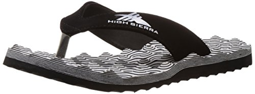 High Sierra Men's White and Black Flip-Flops and House Slippers - 6...