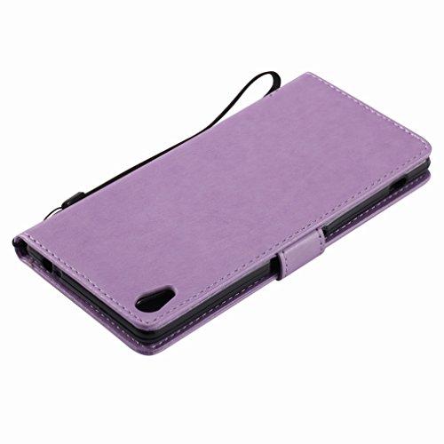 Yiizy Sony Xperia XA Ultra (F3212, F3216) Custodia Cover, Albero e Gatti Goffratura Design Sottile Flip Portafoglio PU Pelle Cuoio Copertura Shell Case Slot Schede Cavalletto Stile Libro Bumper Protet