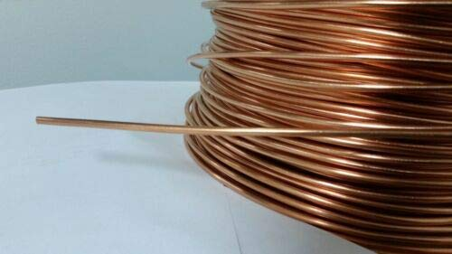 JumpingLight Soft ANNEALED Ground Wire Solid Bare Copper 8 AWG 150 FEET Cables Electronic Stranded Wire Cable Electrics DIY (Bare Cooper Wire)