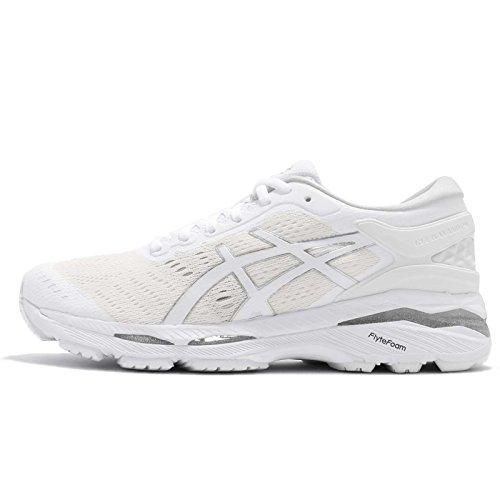ASICS Women's Gel-Kayano 24, White/White/Silver White/White/Silver