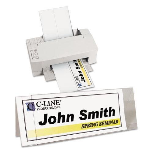 (C-Cline 87507 Tent Card Holder, 4 1/4 x 11, Rigid Heavyweight Clear Plastic, 25/Box)