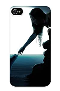 meilinF000Honeyhoney Ultra Slim Fit Hard Case Cover Specially Made For iphone 5/5s- Dolphins Night Moon Animals Girls Fantasy Silhouee Women Females Ocean Sea Art ShoremeilinF000