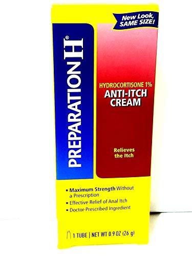 Preparation H Anti-Itch Cream Hydrocortisone 1% 0.90 oz (Pack of -