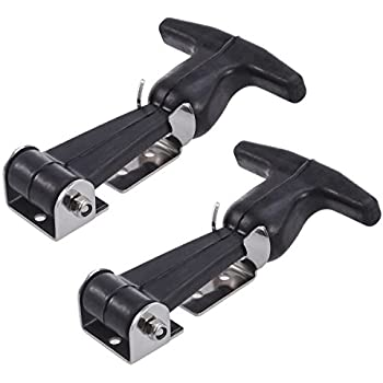 Ueetek 2pcs Flexible T Handle Draw Latches Stainless Steel